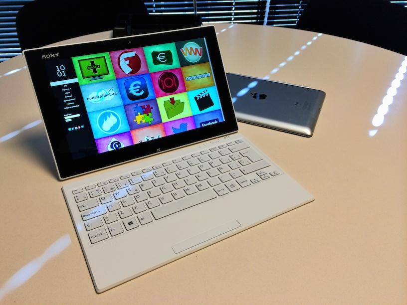 SisFactu tablet sobre una Sony VAIO Tap 11